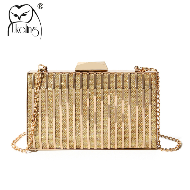 Ukqling Brand New Luxury Clutch Bags Women Bag Clutches Purse With Chain Evening For Party