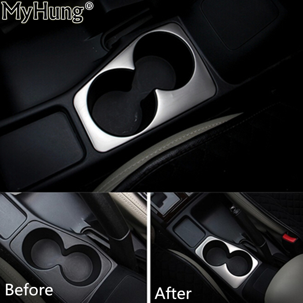 For Mitsubishi Pajero Sport 2011 To 2014 Car Water Cup Holder Decoration Trim Stainless Steel Car Sticker 1pc Car-Styling stainless steel auto side door trim moulding auto accessories for mitsubishi pajero sport 2014