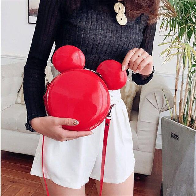 Heat Fashion Brand Design Women Mickey Shaped Bag Cute Funny Women Evening Bag Clutch Purse Chain Shoulder Bag for Birthday Gift 2