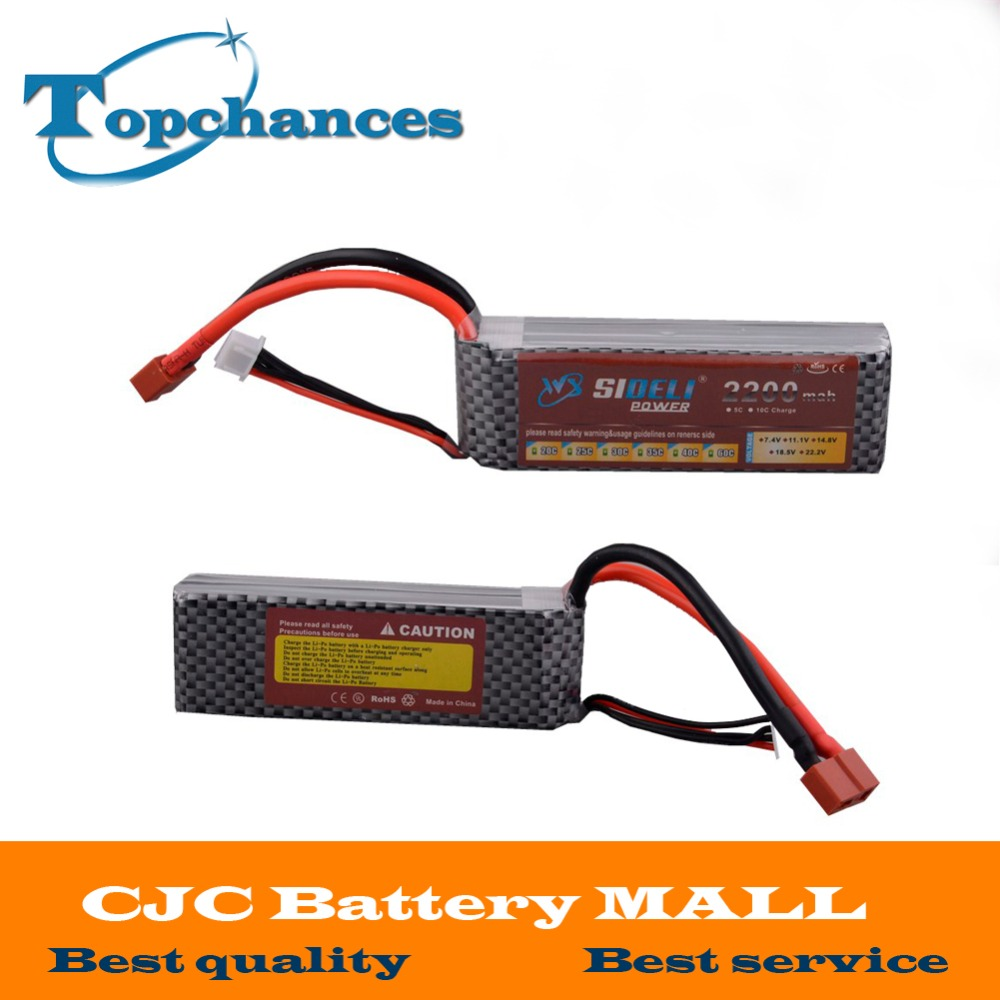 Hot Sale High Quality 2x New 111v 2200mah 3s 25c Lipo Battery For Lippo Tplug Rc Car Truck Helicopter Airplane Frame Kit With Xt60 T Plug
