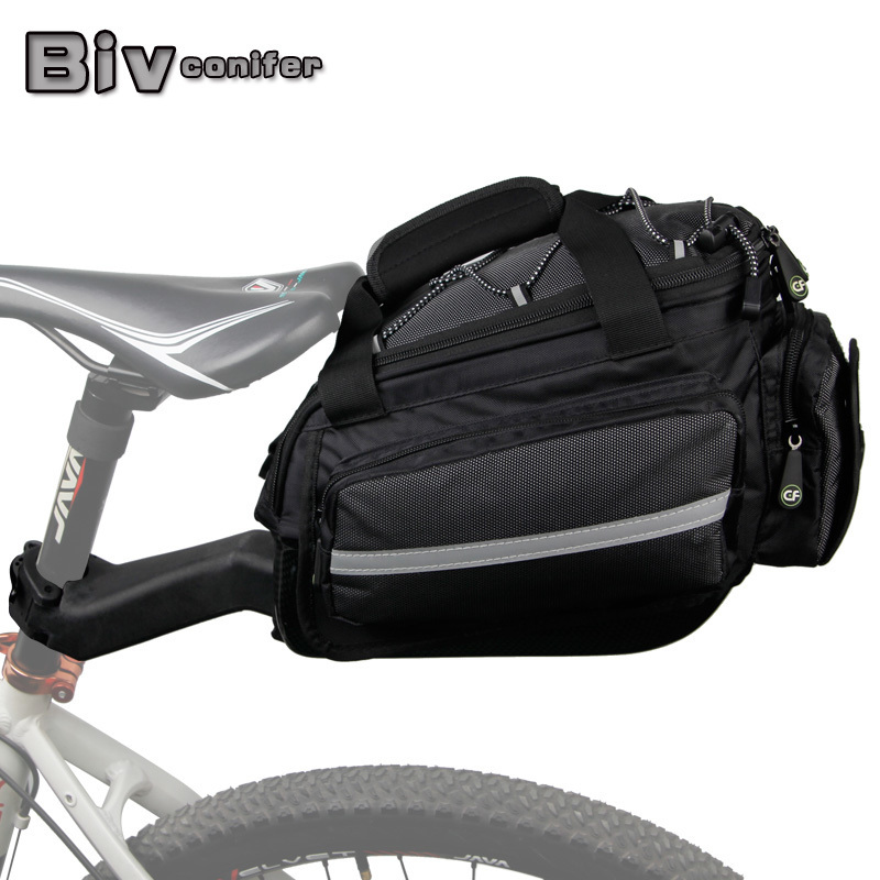 Bicycle Rack Bag Carrier Trunk Bike Rear Bag Bycicle Accessory Raincover Cycling Seat Frame Tail Bike Luggage Bag high quality big capacity cycling bicycle bag bike rear seat trunk bag bike panniers bicycle seat bag accessories bags cycling