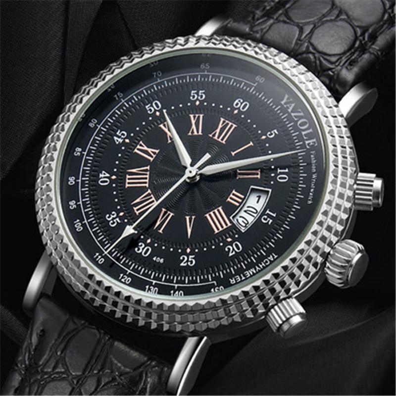 YAZOLE 406 Top Brand Mens Watches Fashion Casual Sport Male Waterproof Quartz Watch Man military Clock Relogio Masculino Gift