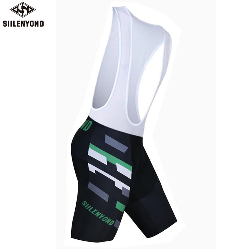 Siilenyond летние мужские шорты с нагрудником для велоспорта Pro Team MTB Bib Shorts De Ciclismo Hombres Paded Pillow Bibs короткая велосипедная одежда - Цвет: color 15