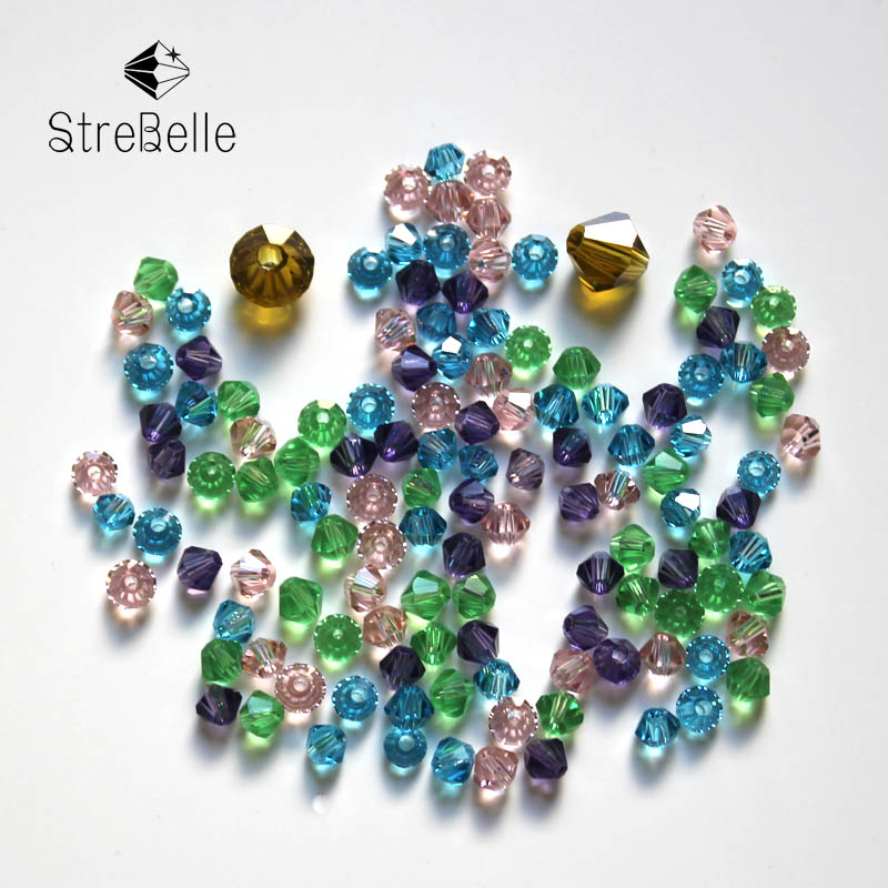 Fcatory Wholesale AAA1 16Fa 200pcs/Bag Grade AAA 3mm 5301 Crystal Bicone Beads Jewelry Making Beads Cloth Accessory