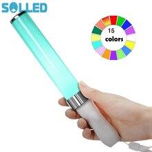 SOL светодиодный светящиеся палочки для вокала, концертов, светодиодный светильник 15 цветов, светящиеся палочки, вечерние, свадебные, волшебные, кемпинговые, химические флюоресцентные палочки, горячая распродажа