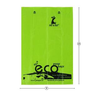 Image 4 - Pet N Petย่อยสลายได้Poopกระเป๋าเป็นมิตรกับสิ่งแวดล้อม360/720นับ24/48ม้วน15ไมครอนสีเขียวขยะกระเป๋า