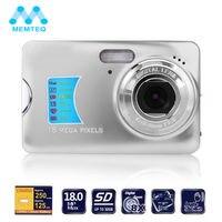 MEMTEQ Digital Camera 2.7 TFT LCD Monitor 8X Digital Zoom 18.0MP HD 720P Video Digital Camera Smile Capture Anti Shake Silver