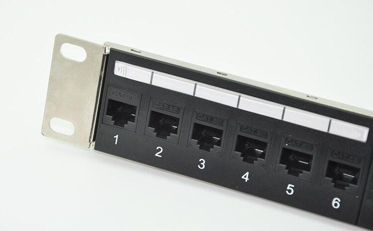 bilder für 24-port CAT6 Feedthrough Patch Panel Inkl. 24 stücke von CAT6 weiblich keystone adapter (RJ45 auf verbindung)