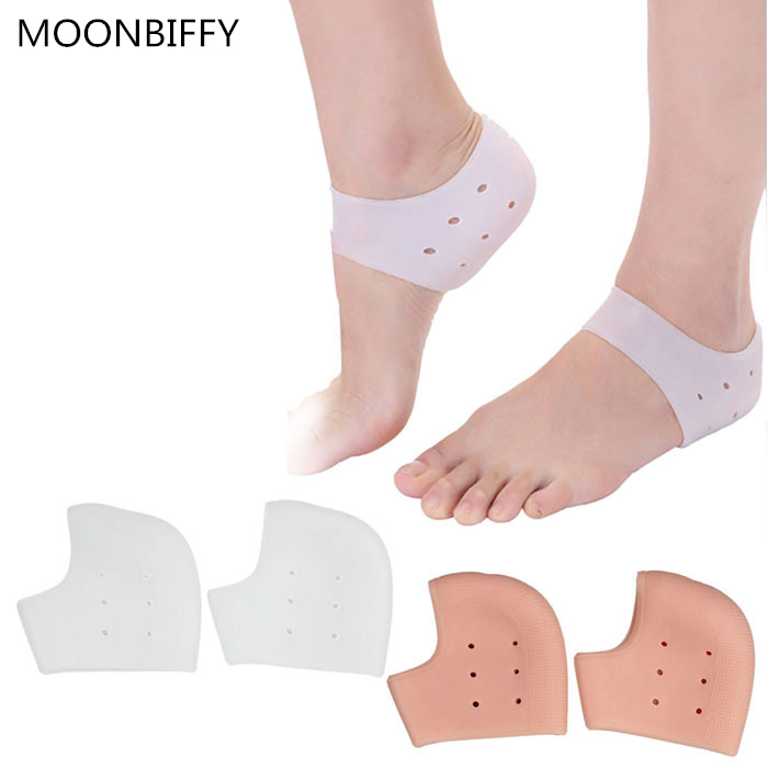 New 1 Pair Delicate Silicone Moisturizing Gel Heel Socks Like Cracked insoles Free Shipping soumit silicone moisturizing gel socks hard exfoliating skin spa full length with hole cracked foot skin care protect heel socks