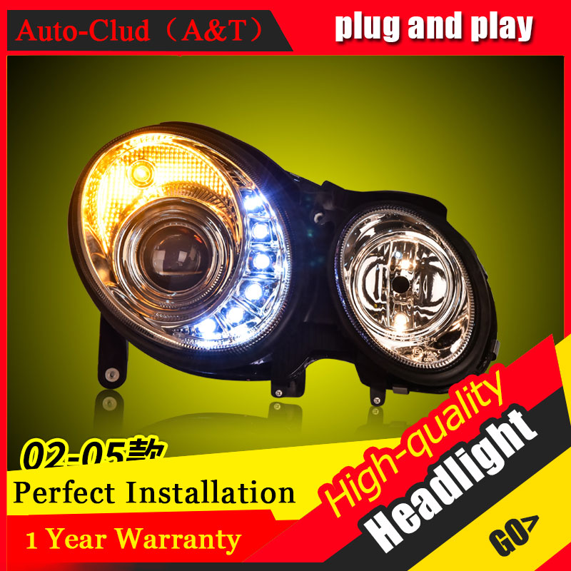 Auto Clud Car Styling For Benz E Series W211 headlights For head lamp led DRL front Bi-Xenon Lens Double Beam HID KIT