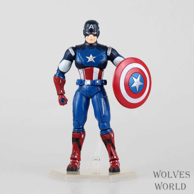 ФОТО Freeshipping Original  16cm Marvel Captain America, high quality, gift boxes, including bracket, Christmas gifts action figure