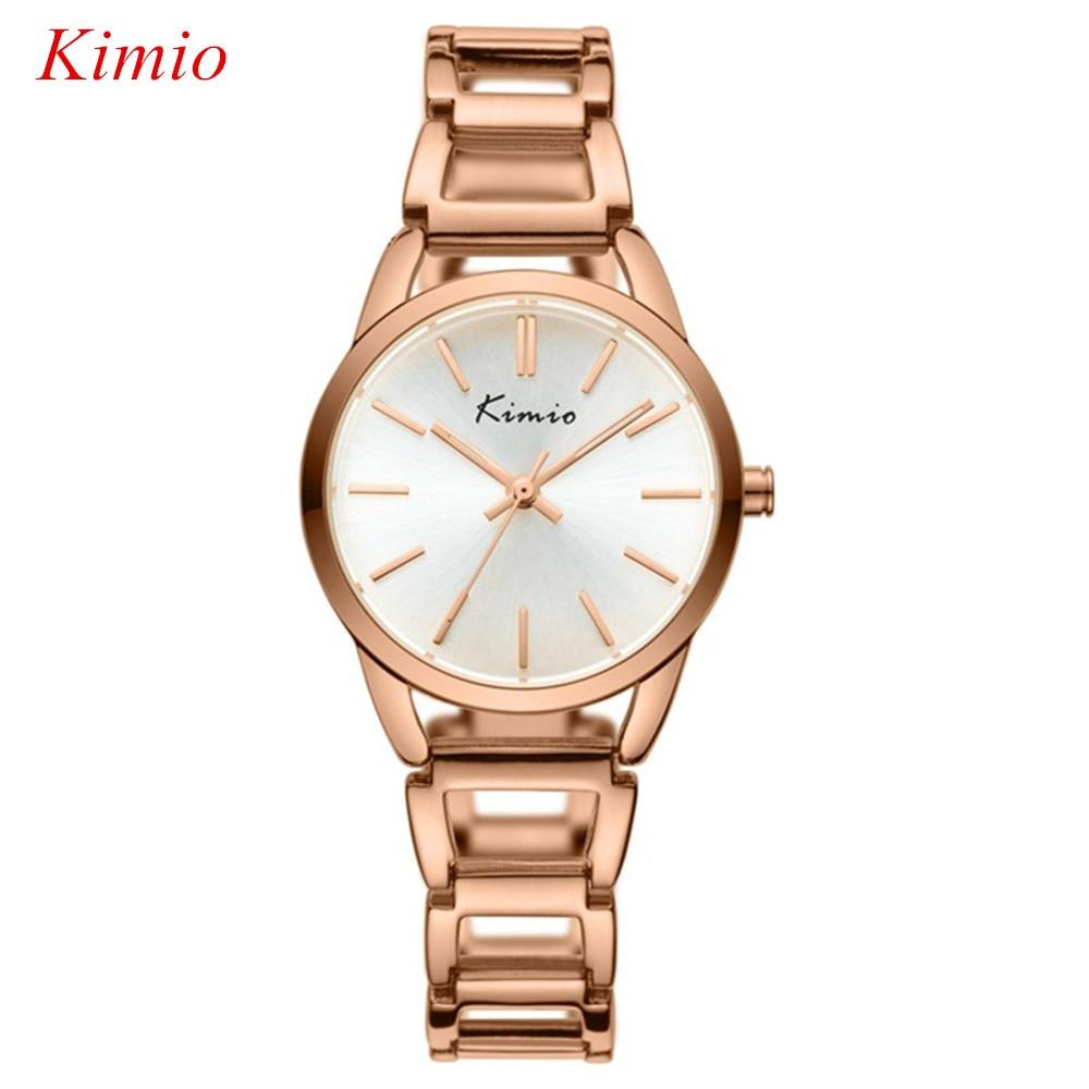 Kimio brand women bracelet watches fashion casual rose gold watch women dress waterproof quartz for Women casual watches