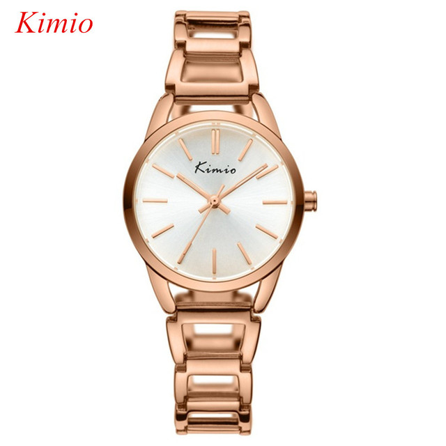 KIMIO brand Women bracelet watches Fashion casual Rose gold watch women dress waterproof quartz wrist watches for women Relojes