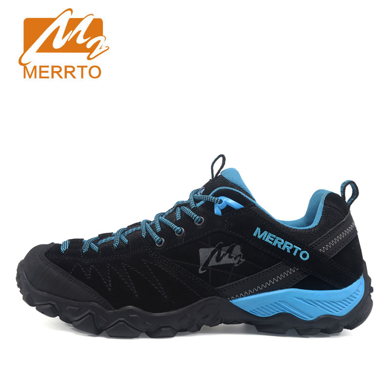 MERRTO Outdoor Shoes Men Real Leather Hiking Shoes Breathable Trekking Shoes Waterproof Climbing zapatillas outdoor hombre недорго, оригинальная цена