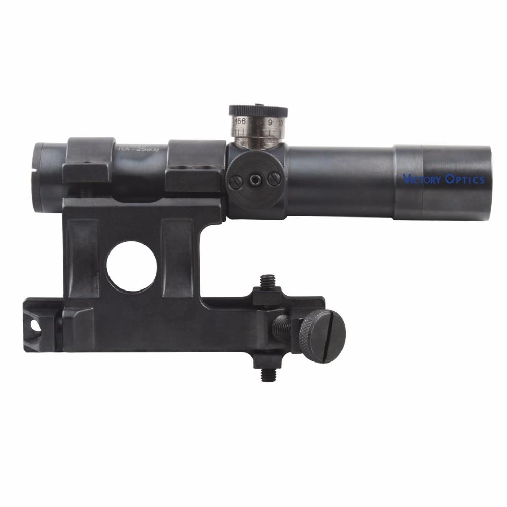 Lunette de visée en acier mosin-nagant 4x20 portée de fusil Mosin Nagant avec réticule en verre gravé