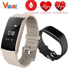 Vwar A86 Смарт Браслет Спорт Браслет крови кислородом часы давления фитнес трекер монитор сердечного ритма браслет для Android IPhone