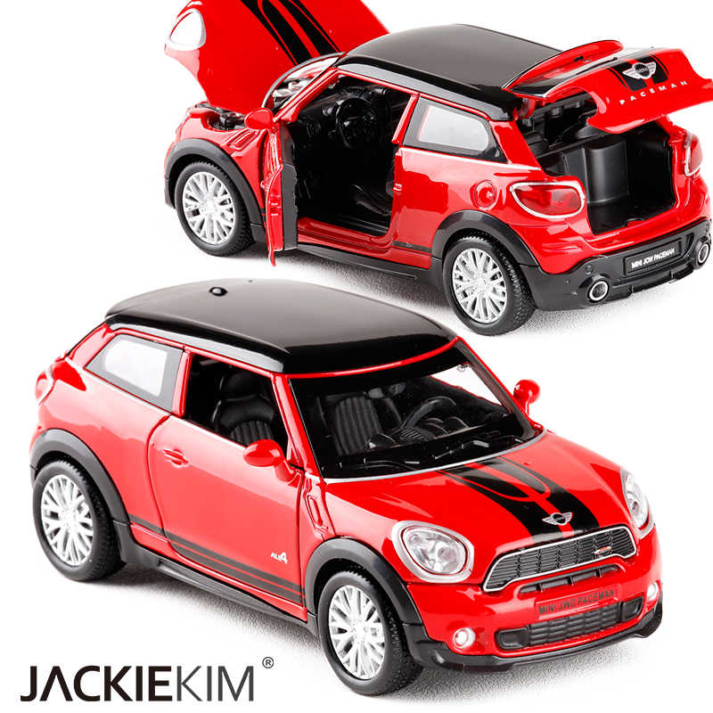 1:32 Scale Diecast Alloy Metal Car Model For MINI Coopers Countryman Model With Pull Back Car Toy For Kids Gifts
