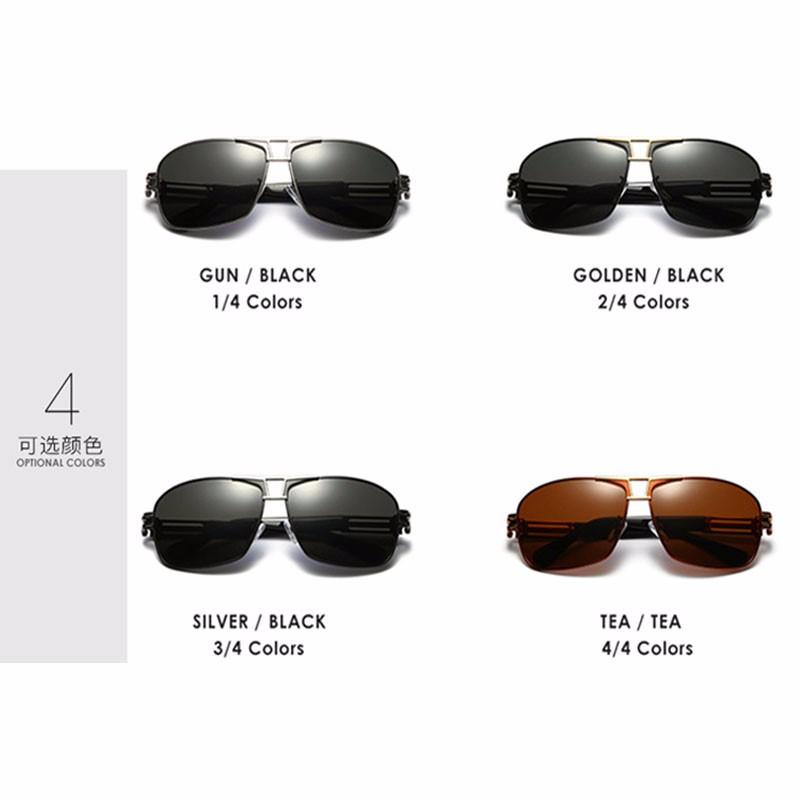 Roupai Polarized Super Cool Military Glasses For Police Driving Mens Square Anti Glare Sunglasses UV400 377 (2)