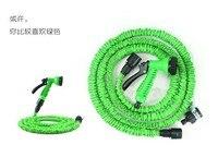 Zielony lub niebieski wąż 25ft zielony zawór wody + pistolet ze złączem z pistoletem na wodę ogród rur