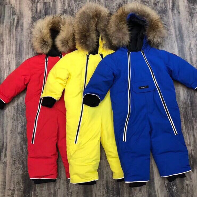 Russia Baby Winter Rompers Clothing Warm Outerwear & Coats Snow Wear Duck Down Jacket Snowsuits for Kids Boys Girls Clothes стоимость