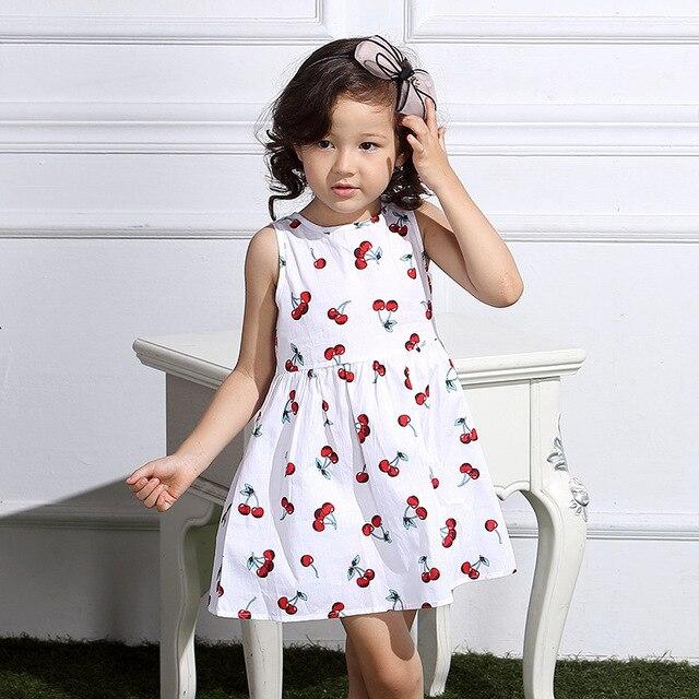 c54e4e3bfe886 Mode mignon doux princesse marque robes décontracté filles vêtements coton  fleurs de cerisier fille robes enfant