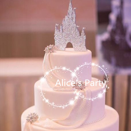 Silver Paper Ice castles Wedding Cake Toppers Party Decorations     Silver Paper Ice castles Wedding Cake Toppers Party Decorations Bridal  Shower Gold Cake Bunting Lainio Snow Village Photo Props in Cake Decorating  Supplies