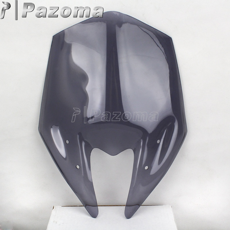 Для Kawasaki Z800 2013- мотоциклетное ветровое стекло дым голая Экран лобовое стекло