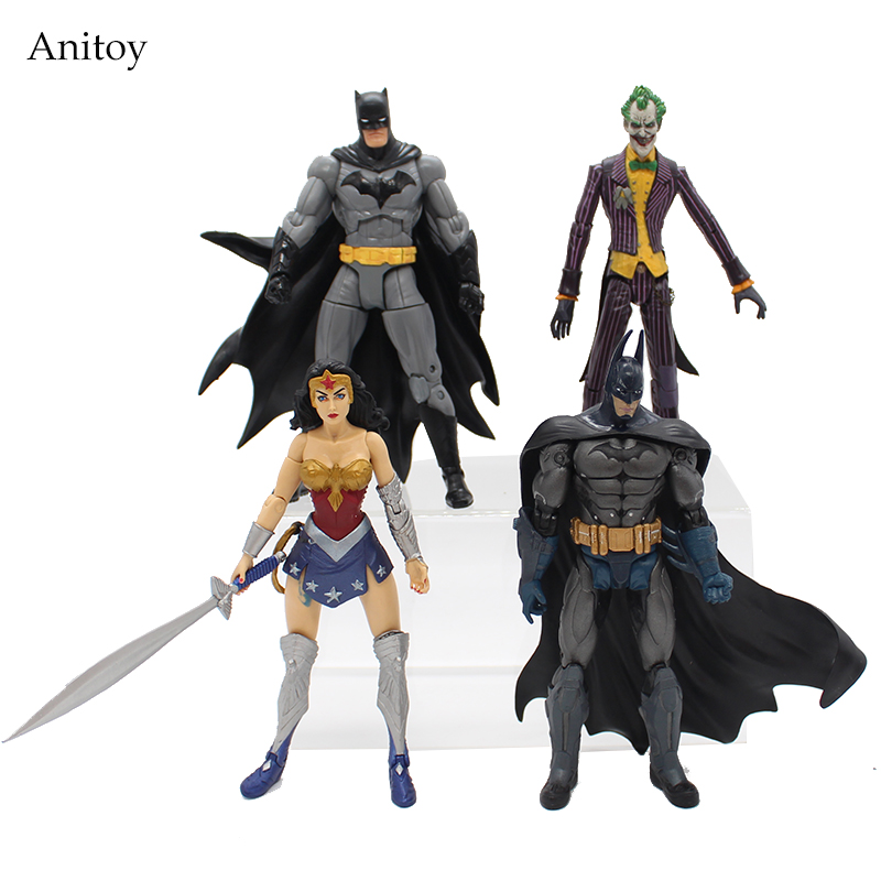 DC Heroes Batman Joker Wonder Woman PVC Action Figure Kids Toys Gift for Children 7 18cm KT1776 lighting statue superman batman wonder woman lights avengers joker harley naruto aliens pvc action figure collectible model toy