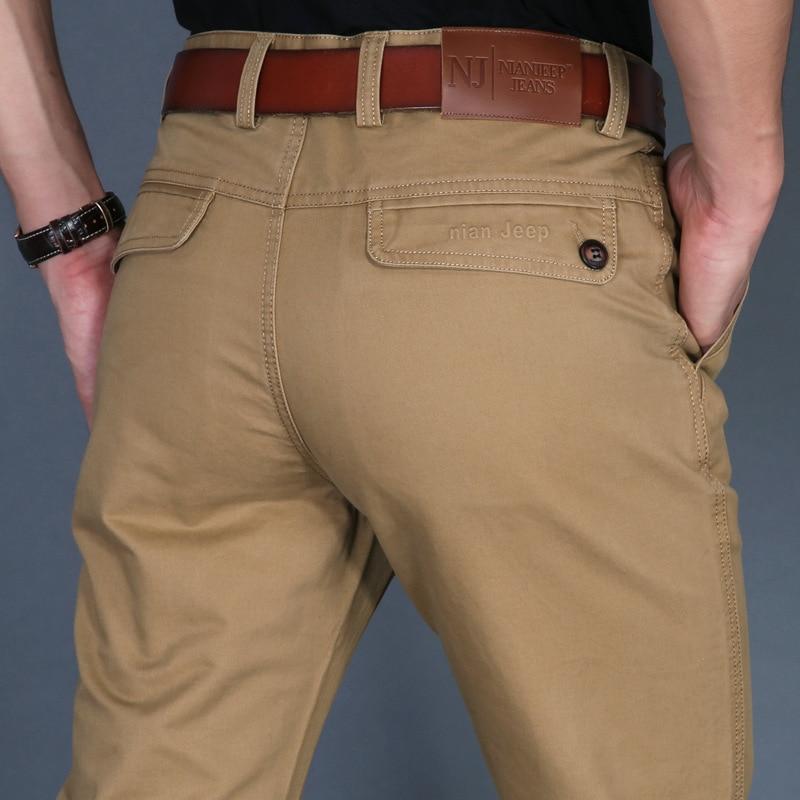 ICPANS Otoño Hombres Pantalones Casuales Pantalones de Algodón Rectos Para Hombre Ejército Negro Caqui Hombre Pantalones Tallas grandes 40 42 2019 Primavera