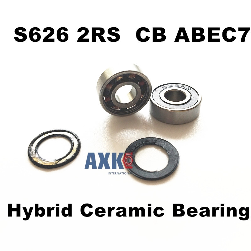 Free shipping S626-2RS s626 2rs stainless steel 440C hybrid ceramic deep groove ball bearing 5x19x6mm 626 free shipping wheel hub bearing 15267 2rs 15 26 7mm 15267 rs stainless steel si3n4 hybrid ceramic bearing