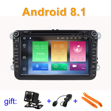 Android 8.1 Car DVD Radio Stereo GPS for VW Passat CC Golf 5 6 T5 EOS B5 B6 B7 Jetta Touran Tiguan Multivan