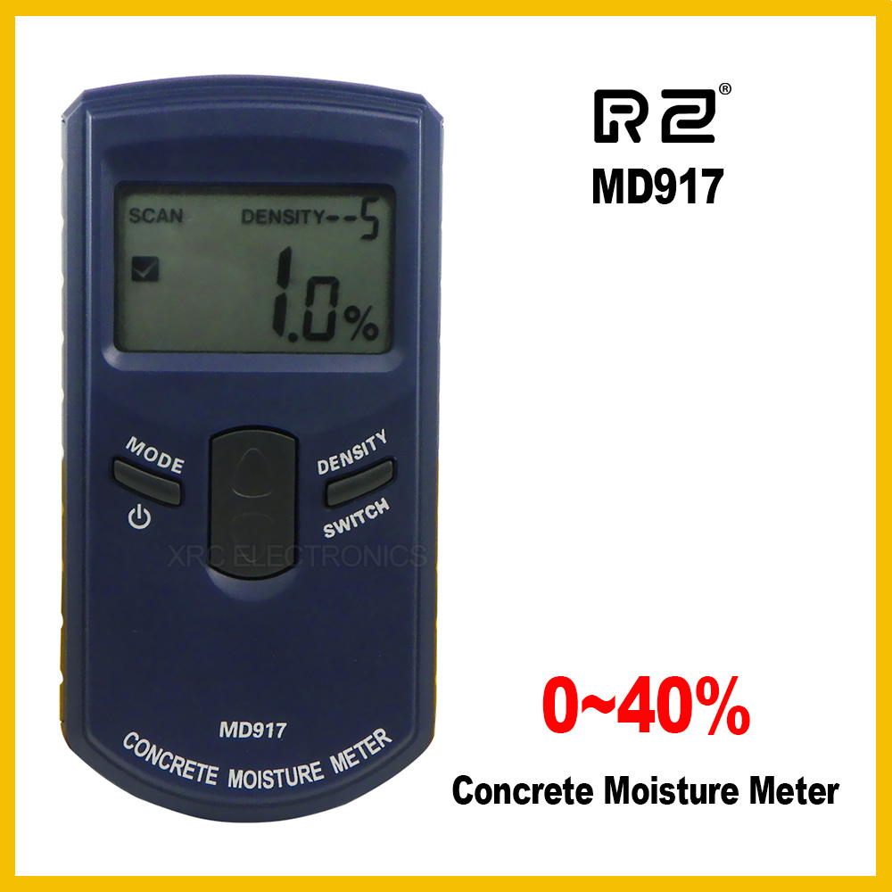 RZ Digital concrete moisture meter with HF electromagnetic waves moisture sensor MD917 md917 handheld concrete ground moisture meter with high quality