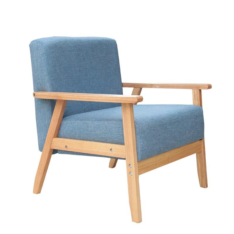 [wood Chair] Large Sized Apartment Cloth Single Sofa Chair