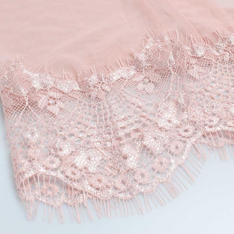57f7f430747 ... GUMPRUN Women Robe Sexy Deep V Neck Lace Robe Ultra-thin Net Yarn  Sleepwear Women