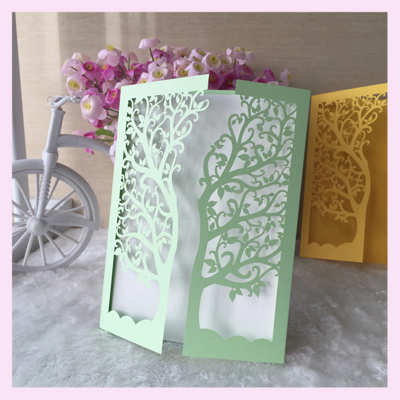 Wholesale love tree design wedding invitation cards laser cut paper wholesale love tree design wedding invitation cards laser cut paper craft luxury delicate personalise birthday greeting cards in cards invitations from stopboris Image collections