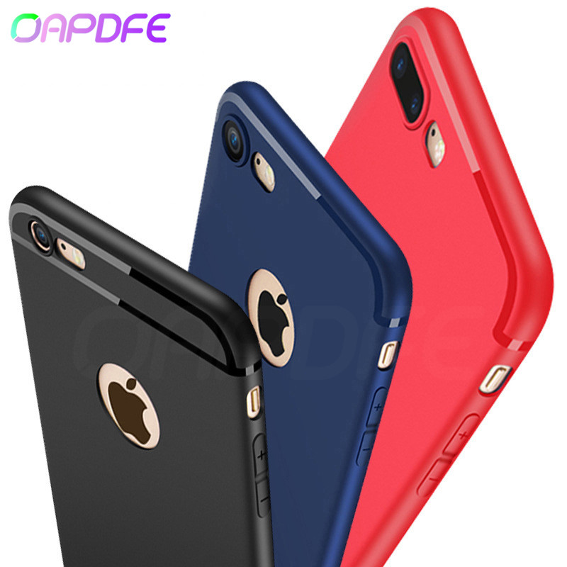 OAPDFE Luxury Matte Soft Silicon Case For iPhone 6 6S 7 8 Plus Case Full Cover TPU For iPhone X 10 XR XS MAX 5 5S SE Phone Cases