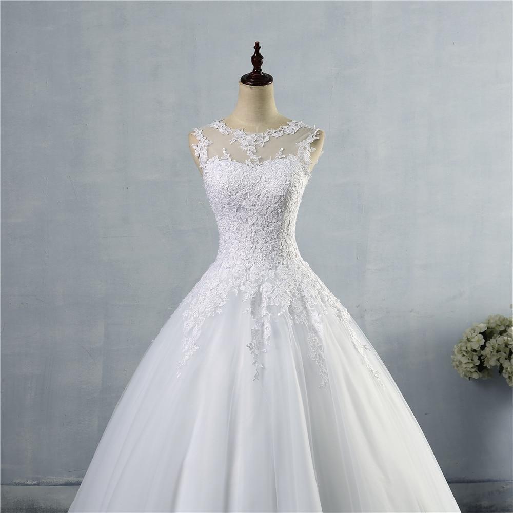 ZJ9036 2016 vestido de encaje blanco marfil con cordones en la - Vestidos de novia - foto 4
