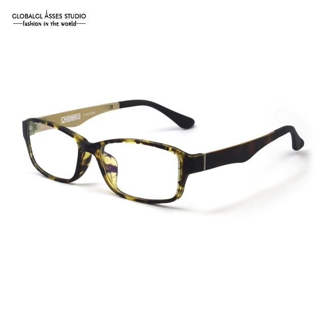 Projeto coreano Luz Retângulo Óculos De Armação Homem Top Demi em Ouro Moda Selvagem Óculos/Frame Ótico/Óculos GX-IN9937 C23-24