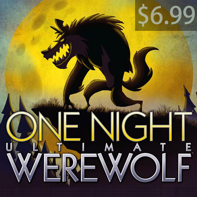One Night Ultimate Werewolf English cards board game for party family fun купить