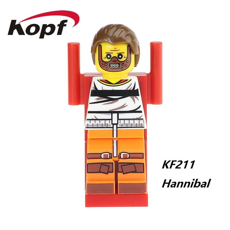 The Horror Theme Movie Hannibal Candyman Clockwork Orange Jeepers Creepers Jack Skellington Building Blocks Kids Gift Toys KF211 the infernal devices 1 clockwork angel