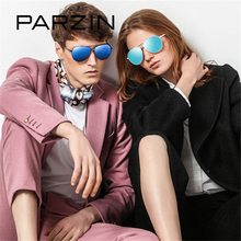 PARZIN Brand Couple Sunglasses Women Quality Coating Polarized Aviator Sunglasses Alloy Frame Mirror Driving Glasses 2017 New