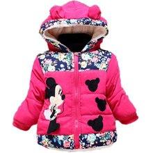 a1d578c9215d3 Bébé filles automne hiver Minnie Dot veste manteau enfants vêtements chauds  à capuche vêtements de sortie