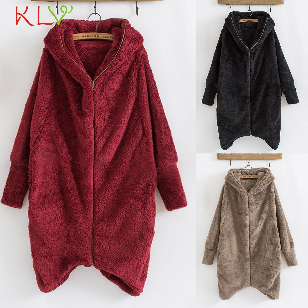 Enthusiastic Women Jacket Winter Solid Zipper Hooded Long 2018 Plus Size Ladies Chamarra Cazadora Mujer Coat For Girls 18oct23 Lustrous Surface Women's Clothing Jackets & Coats