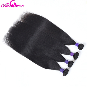 Image 5 - עלי קוקו ישר שיער פרואני רמי שיער חבילות 8 30 inch 100% שיער טבעי אריגת 1/3/4 חבילות צבע טבעי יכול להיות מסולסל