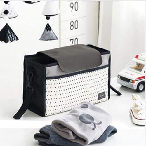 Fashion Multifunctional Mummy Bag Baby Diaper Nappy Pram Stroller Hanging Bag