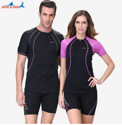 Women Men Snorkeling 1.5MM Two Piece Surfing Wetsuit For Swimming Diving Swimsuit Rash Guard Swimwear Wetsuits Spearfishing Suit realon 3mm shorty wetsuit neoprene swimsuit mens women swimwear rash guard sleeves wet suit snorkeling diving swimming surfing