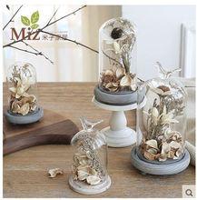 Brief decoration glass living artware item modern style