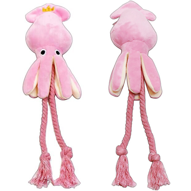 Hot Sale 1piece Dog Toy The Octopus Cute Bb Plush Stuffed Animals Kids Rope Toys Gift 37 Cm