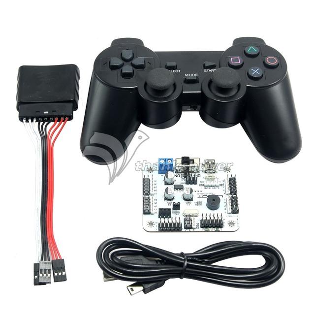 32 Canales Tarjeta de Control Del Motor Servo y PS 2 Controlador + Receptor para Robot Hexápodo Araña 17DOF Robtics
