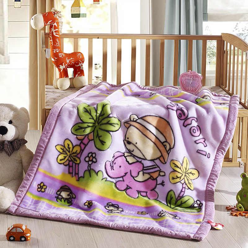 2019 Новое уплотненное Двухслойное одеяло для младенца Raschel пеленание Bebe коляска обертывание постельное белье для новорожденных малышей одеяло домашний текстиль